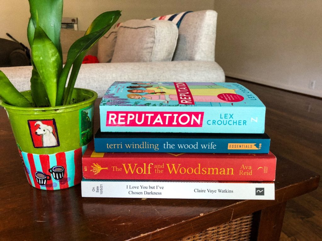 August book stack